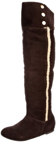 Chinese Laundry Women's Take Me There Chocolate Fur Trimmed Boots 5052125659064 5 UK