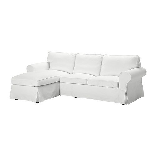 Phenomenal Ikea Ektorp Cover For Loveseat With Chaise Blekinge White Machost Co Dining Chair Design Ideas Machostcouk