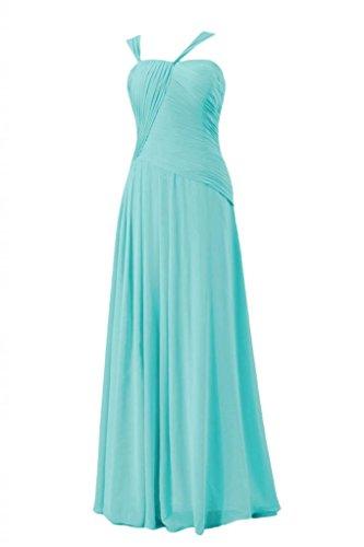 Daisyformals Long Asymmetric Chiffon Bridesmaid Dress(Bm124)- Tiffany Blue
