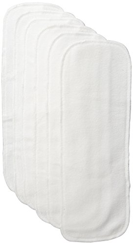 BabyKicks 6 Count Stay Dry Diaper Liner, White
