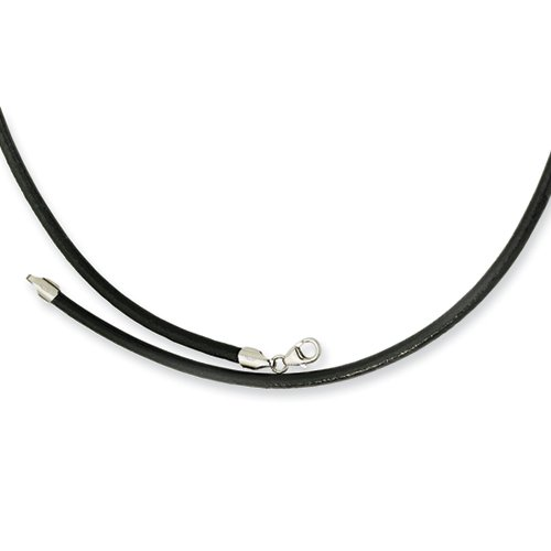 3.00 Genuine Leather Greece Textured Necklace