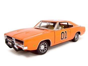 1969 Dodge Charger Dukes of Hazzard General Lee Diecast Model 1:18 Die Cast Car
