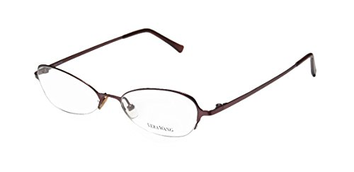 Vera Wang V100 Womens/Ladies Rx Ready Sleek Designer Half-rim Eyeglasses/Eye Glasses (49-17-135, Wine) (Elite Carbon Cub compare prices)