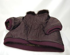 Casis After Sport Donald Pliner Leather Dog Coat (Plum, Small)