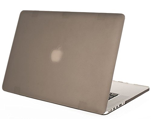 """Mosiso - Gray Rubberized Hard Case Cover For Apple Macbook Pro 15.4"""" With Retina Display Model: A1398 (Newest Version, No Cd-Rom Drive) 15-Inch (Gray)"""