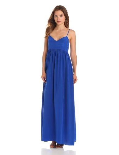 Amanda Uprichard Women'S Silk Gown Maxi Dress, Royal, X-Small