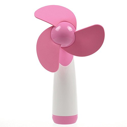 Ellami®2Pcs Pink Personal Hand-held/Portable Battery Operated Mini Air Fan for Home and Travel