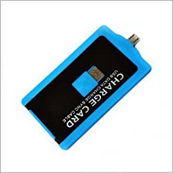 SMILEDRIVE CHARGECARD - CREDIT CARD SHAPED USB CABLE Samsung / HTC / Blackberry CHARGER - BLUE