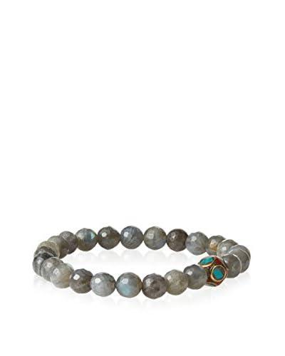 Devoted Men's Faceted Grey Labradorite Bracelet