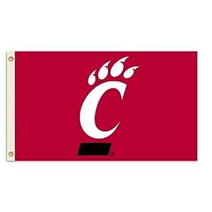 Buy NCAA Cincinnati Bearcats 3-by-5 Foot Flag With Grommets by BSI