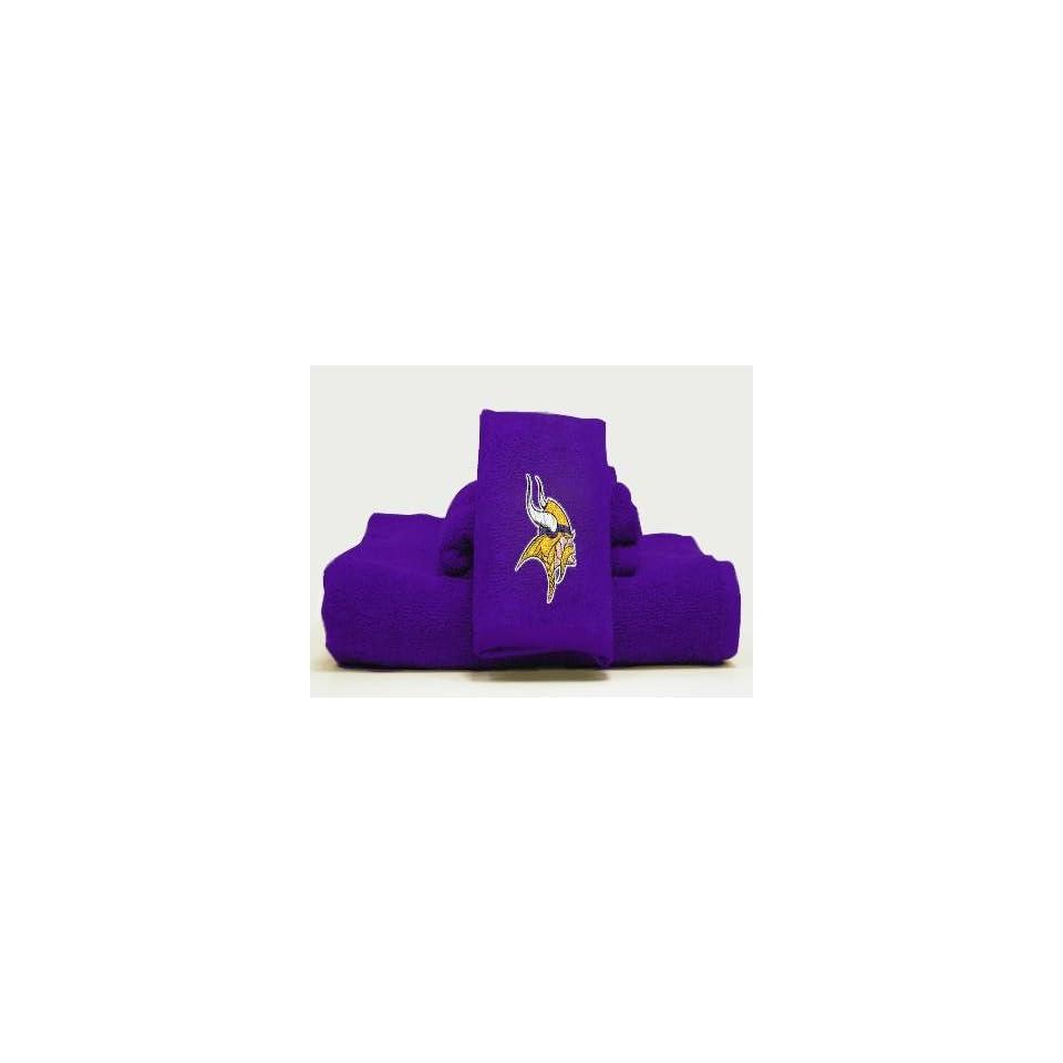 560004e3 Minnesota Vikings NFL 3 Piece Embroidered Bath Towel Set on PopScreen