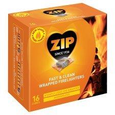 zip firelighters clean pack of 16