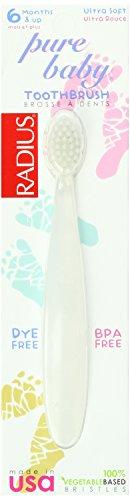 Radius Pure Baby Toothbrush, Ultra Soft (Pack of 24)