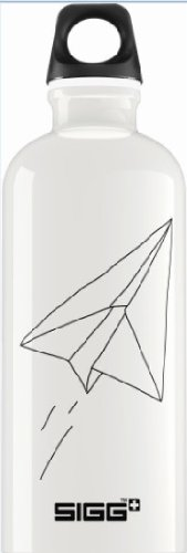 Sigg Paradise Flight Water Bottle, 0.6-Liter, White front-542691