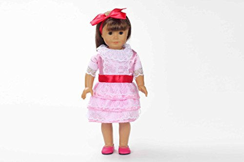 Teenitor(TM) Pink Princes Party Dress Fits 18 Inch Girl Dolls (Shipping By FBA)