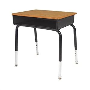 Laminate Open Front Student Desk Frame Finish Color / Desk Finish / Frame: Black Box/Fusion Maple Top/Black Frame by Virco