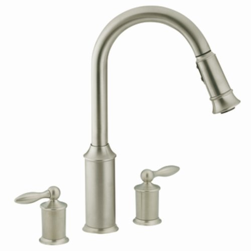 Order Moen 7592csl Aberdeen Two Handle High Arc Pulldown Kitchen Faucet Classic Stainless Now