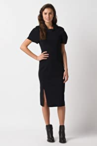 Fashion Show Short Sleeve Structured Jersey Double Face Polo Dress