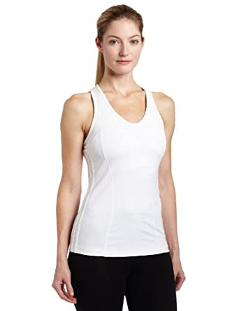 adidas Women's Energy Open Tank (White, Large)