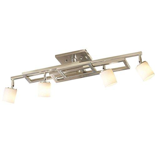 Portfolio 6 Light Track Lighting: Allen + Roth 4-Light Brushed Nickel Fixed Track Light Kit
