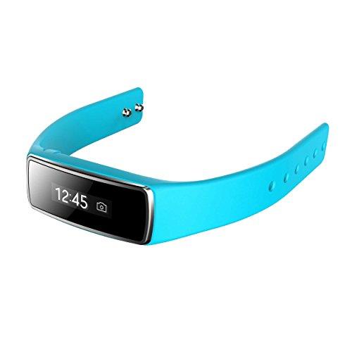 Bluetooth Smart Bracelet Sport Fitness Tracker Smart Wristband Water Resistant Fitness Tracker Bracelet Sleep Monitoring Calorie Function Anti-Lost Smart Watch (Blue)