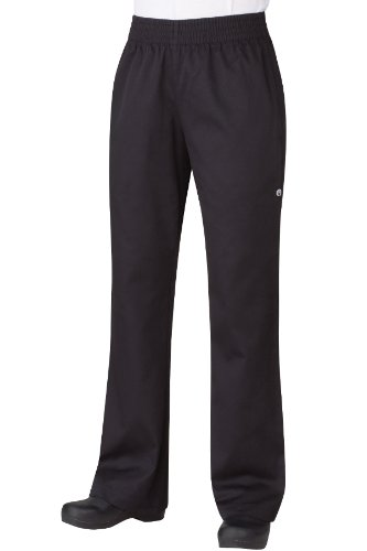 Chef Works PW005 Women's Basic Baggy Pants, X-Small