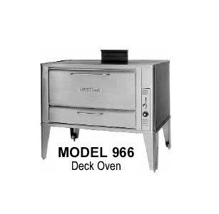 Blodgett 966 Double Lp Deck Type Gas Oven, 42 In W X 32 In D X (2) 16 In H Section, Lp, Each front-583065