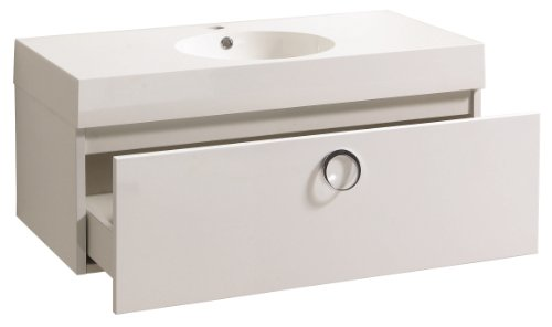 Luxo Marbre Relax V36 Relax Vanity With Synthetic Marble Sink White O Deals Kitchen Bath