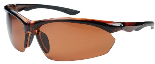 P52 Polarized Super Light Frame Sunglasses for Fishing & Active Lifestyles (Caramel & Copper)