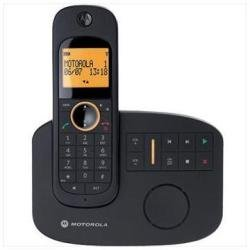 Motorola D 1011 Ultra Slim Razr Style Digital Cordless Phone with Answering Machine, 100 memory, Caller ID Display - DECT Single Handset Model in Black (UK MODEL) picture