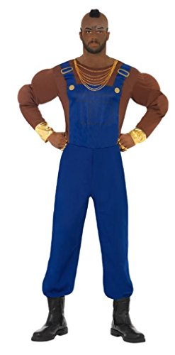 Smiffys Men's Blue Mr T Costume -
