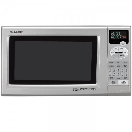 Sharp R-820JS 0.9-Cubic Foot Grill 2 Convection Microwave, Silver