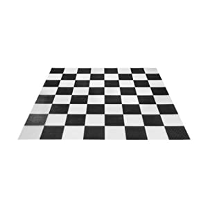 "MegaChess Giant Plastic Chess/Checker Board with 14"" Squares"