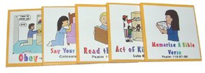 "Kenson Kids ""I Can Do It!"" Reward Chart Christian Living Supplemental Pack - Ages 3 to 10"