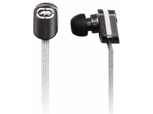 Mizco Eku-Lce-Wht Ecko Lace Stereo Earbud Headphones With In-Line Microphone - White