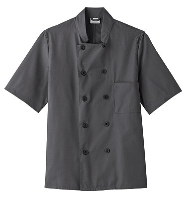 Five Star 18025 Adult's SS Chef Jacket Granite X-Large (Chef Jacket For Men Short Sleeves compare prices)