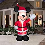 Mickey In Santa Suit Airblown Christmas Decor