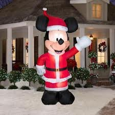 Gemmy Inflatable Huge 11' Mickey Mouse Santa