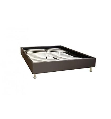 Cama Confort sintética, color marrón, 90 x 190 cm