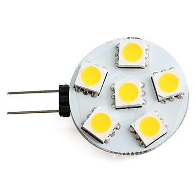 Blumenzwiebeln - SMD 40 lm 2700 K G4 0,5 W 6 x 5050 Warmweiß Licht LED Spot Lampe (12 V)