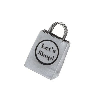 Let's Shop - Silver Silver Shopping Bag Brooch