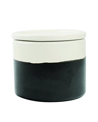 Canvas Home Chalkboard Sugar Jar with Lid, White/Black