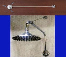 Shower Head Support Bracket - Chrome Finish (Shower Head Ceiling Support Rod compare prices)