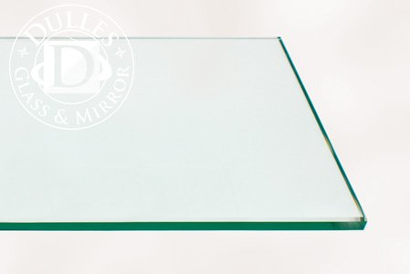 [해외]36x60 Inch Rectangle Glass Table Top, 1/4 Inch Thick, Flat Polished  Edge, Eased Corners, Tempered