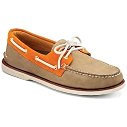 Sperry Men\'s Gold A/O 2-Eye, Tan/Orange-7