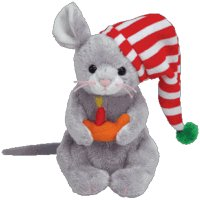TY Beanie Baby - FLICKER the Mouse (BBOM December 2005)