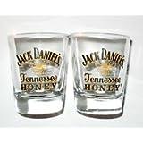 2 x Jack Daniels Tennessee Honey Shot Glasses