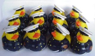One Dozen (12) Marine Rubber Duck Party Favors