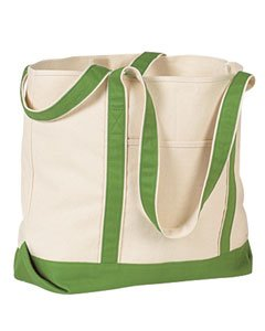 Hyp Sportswear Beach Tote &#8211; NATURAL/CLOVER &#8211; One Size