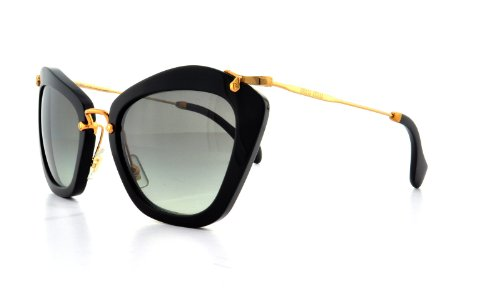 Miu Miu Miu Miu 10NS 1AB3M1 Black 10NS Noir Cats Eyes Sunglasses Lens Category 2
